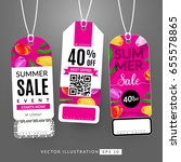 set with sale labels. summer... | Shutterstock .eps vector #655578865