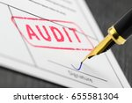 form close up  fountain pen and ... | Shutterstock . vector #655581304