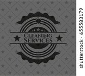 cleaning services dark emblem | Shutterstock .eps vector #655583179