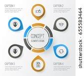 management icons set.... | Shutterstock .eps vector #655583464