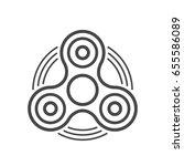 fidget spinner line vector icon.... | Shutterstock .eps vector #655586089