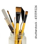 paintbrushes and pallet knifes... | Shutterstock . vector #65559226