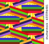 endless abstract pattern.... | Shutterstock .eps vector #655596481