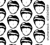 vector pattern with hand drawn... | Shutterstock .eps vector #655604089