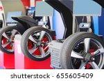 tyre fitting equipment   Shutterstock . vector #655605409
