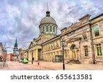 bonsecours market in old... | Shutterstock . vector #655613581