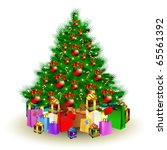 vector christmas tree | Shutterstock .eps vector #65561392