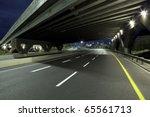 empty freeway at night   Shutterstock . vector #65561713