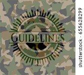 guidelines camo emblem | Shutterstock .eps vector #655628299