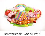 sweet house. confectionery and... | Shutterstock .eps vector #655634944
