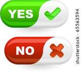 yes and no buttons. | Shutterstock .eps vector #65563594