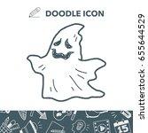 ghost doodle | Shutterstock .eps vector #655644529