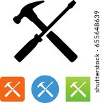 hammer and screwdriver tools... | Shutterstock .eps vector #655648639