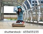 travel concept   stressful...   Shutterstock . vector #655655155