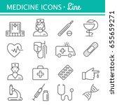 medicine and health symbols for ... | Shutterstock .eps vector #655659271