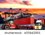 industrial logistics and... | Shutterstock . vector #655662001