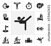 set of 12 editable lifestyle... | Shutterstock .eps vector #655662631