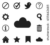 set of 12 editable  icons....