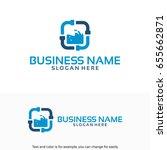 plumb service logo designs... | Shutterstock .eps vector #655662871