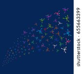 source stream of big bang... | Shutterstock .eps vector #655663399