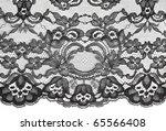 black fine lace floral texture | Shutterstock . vector #65566408