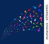 source stream of arrow... | Shutterstock .eps vector #655664401