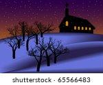 christmas night background  ... | Shutterstock . vector #65566483