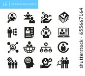 business human resource icons | Shutterstock .eps vector #655667164