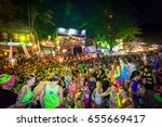 full moon party aug 28  2013 ... | Shutterstock . vector #655669417