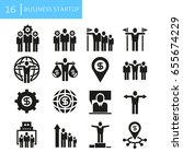 business startup concept icons | Shutterstock .eps vector #655674229