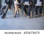 group of peoples are sitting to ... | Shutterstock . vector #655675675