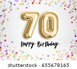 70th birthday celebration with... | Shutterstock . vector #655678165
