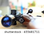 weapon hunting rifles with... | Shutterstock . vector #655681711