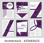 abstract vector layout... | Shutterstock .eps vector #655683625