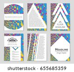 abstract vector layout... | Shutterstock .eps vector #655685359