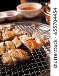 dakgalbi is korean style... | Shutterstock . vector #655704454