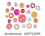 various buttons isolated on a...
