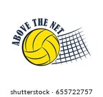 volleyball badge  creative... | Shutterstock .eps vector #655722757