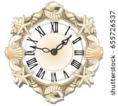 elegant wall clock or watches... | Shutterstock .eps vector #655726537