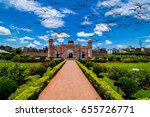 birds flying on lalbagh fort ... | Shutterstock . vector #655726771