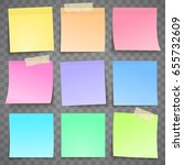 colorful paper note with... | Shutterstock .eps vector #655732609