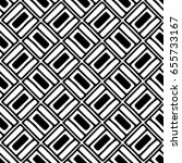 seamless pattern. black and... | Shutterstock . vector #655733167