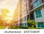 modern apartment buildings... | Shutterstock . vector #655733839