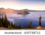 crater lake national park in...   Shutterstock . vector #655738711