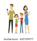family   colored vector modern...   Shutterstock .eps vector #655739977