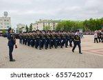 russia. belgorod  may 9  2017 ... | Shutterstock . vector #655742017