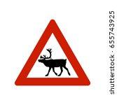 isolated elk sign   Shutterstock .eps vector #655743925