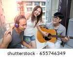group of asian people have a... | Shutterstock . vector #655746349
