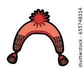 cute christmas hat cartoon | Shutterstock .eps vector #655748314