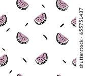 minimalistic watermelon... | Shutterstock .eps vector #655751437